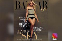 Shakira luce espectacular vestido en portada de la revista Harper's Bazaar