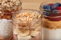 3 originales desayunos saludables en frascos