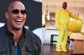 Dwayne Johnson, 'La Roca', se disfraza de Pikachu para su hija