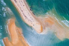 Aparece una nueva isla frente a la costa de Carolina del Norte