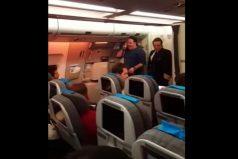 Le pidió matrimonio a su novia en pleno vuelo de Aerolíneas Argentinas