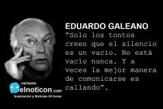 Eduardo Galeano, el silencio