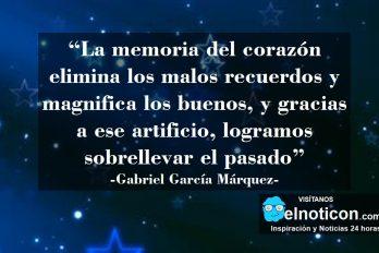 """Gabriel García Márquez, """"La memoria del corazón elimina los malos recuerdos…"""