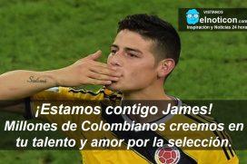 ¡Estamos contigo James!
