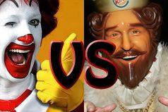 ¿Eres amante de las hamburguesas? Mira la guerra entre Burger King y McDonald's