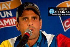 Opositores reciben sobornos del gobierno: Henrique Capriles