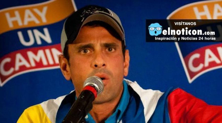 Henrique Capriles solicita que se abra un canal humanitario en Venezuela