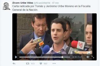 Tomás y Jerónimo Uribe dan la cara en la Fiscalía