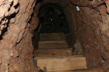 Descubren túnel utilizado para traficar drogas entre México y Estados Unidos
