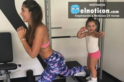 Daniela Ospina demuestra que las mamás pueden sacar tiempo para ejercitarse