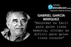 Gabriel García Márquez, recordar.