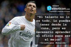 Cristiano Ronaldo, el talento