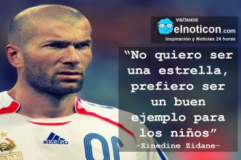 Zinedine Zidane, ejemplo
