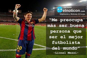 Lionel Messi, ser buen persona