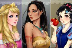 Princesas de Disney, esta vez convertidas en personajes de anime ¡Divinas!