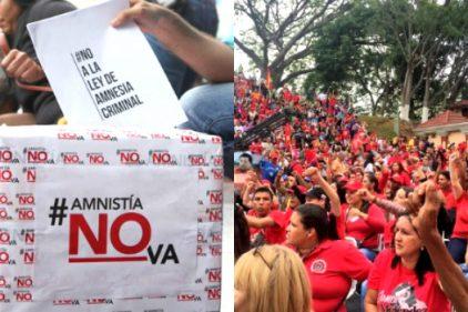 Chavistas marcharon en Caracas en contra de la ley de Amnistía