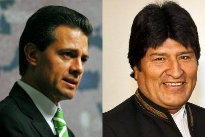 Los presidentes Enrique Peña Nieto y Evo Morales analizan encuentro bilateral