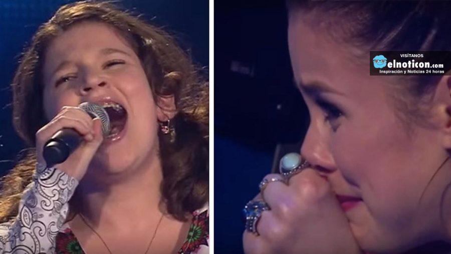 """Una juez de """"The Voice"""" no pudo contener el llanto ante el canto de esta niña"""