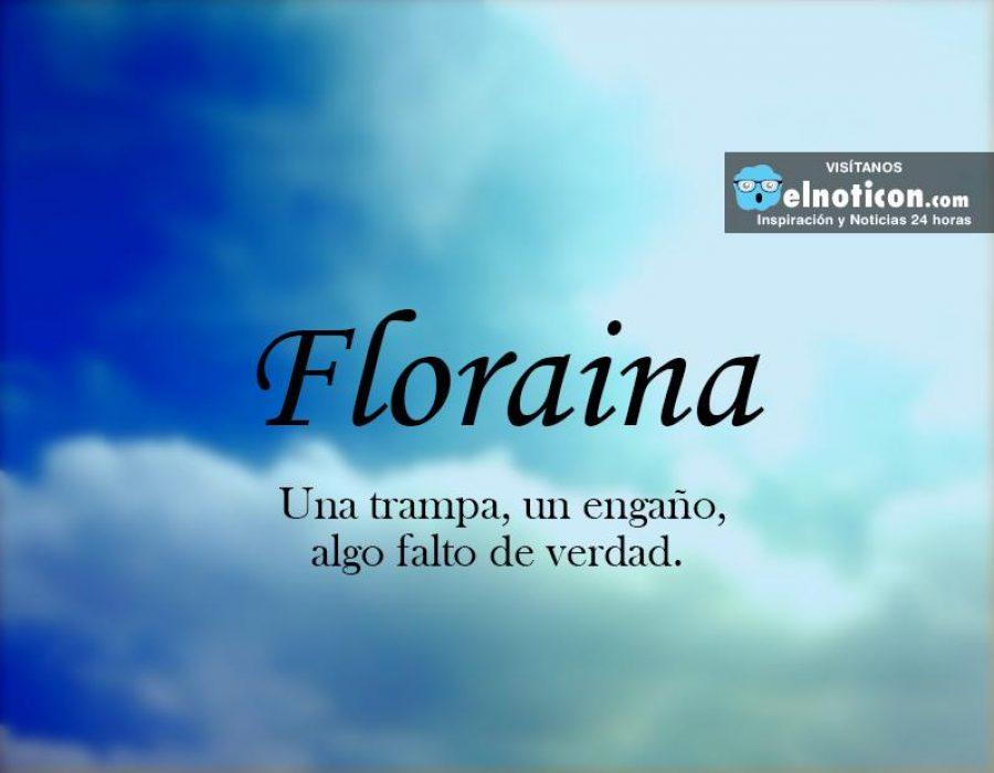 Definición de Floraina