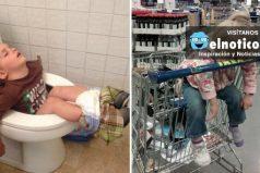 Pruebas de que un niño con sueño logrará dormir sin importar el momento ni el lugar