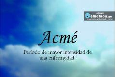 Definición de Acmé