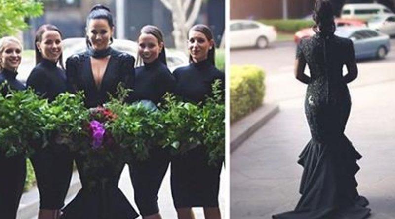 Esta novia vistió de negro