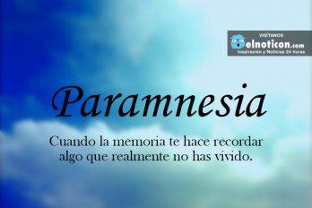 Definición de Paramnesia
