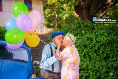 Esta pareja que celebro sus casi 70 años de unión con una tierna sesión de fotos