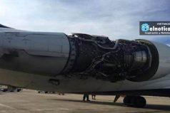 Avión aterriza de emergencia tras perder una pieza del motor en pleno vuelo