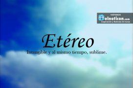 Definición de Etéreo