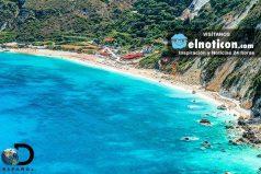 ¿A quién no le gustaría visitar la playa de Pentani en la isla de Cefalonia en Grecia?