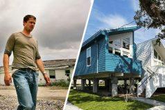 Brad Pitt construyó casas para cientos de familias que lo perdieron todo a causa de un huracán