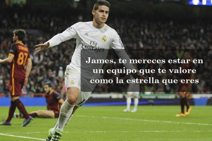 ¡James, tu fútbol debe seguir brillando!