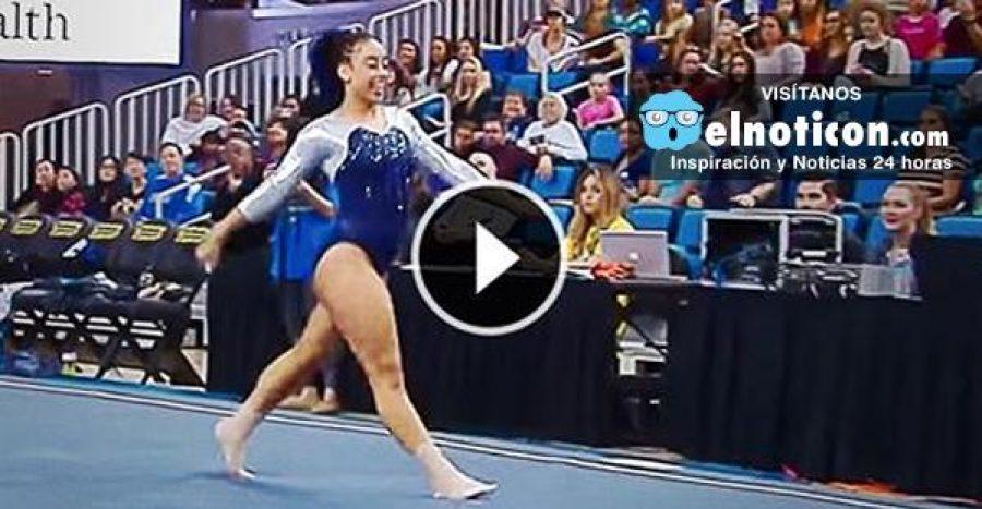 Esta gimnasta conquistó a los jueces de inmediato