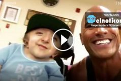 "A few big smiles, courtesy of Dwayne ""The Rock"" Johnson"