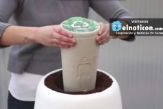 This amazing urn sprouts new life when you leave yours