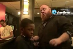 For this boy, an A-filled report card meant free haircuts forever