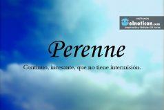 Definición de Perenne
