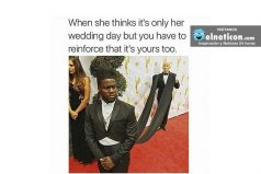 When she thinks it's only her wedding day…
