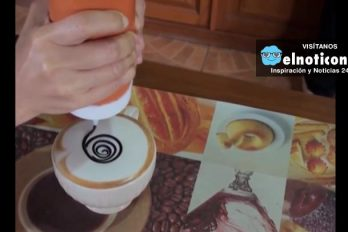 Arte en tazas de café en Tailandia
