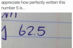 Can we all just a moment to appreciate how perfectly written this number 5 is…