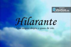 Definición de Hilarante