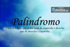 Definición de Palíndromo