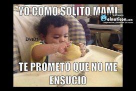 Yo como sólito mami…