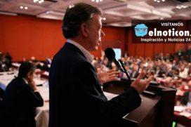 """""""En un país minado no es posible una paz completa"""", Juan Manuel  Santos"""