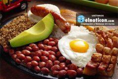 ¿Te gusta la gastronomía colombiana? mira cuántas calorías tiene una bandeja paisa y otras delicias