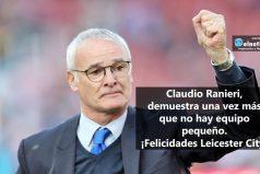 Claudio Ranieri, protagonista de la victoria del Leicester City