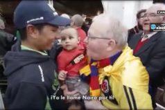 Nairo Quintana, es recibido como héroe a donde llega, y él no pierde su humildad