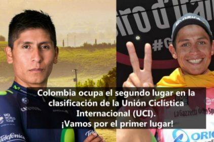 Colombia es segunda en la clasificación de la Unión Ciclística Internacional