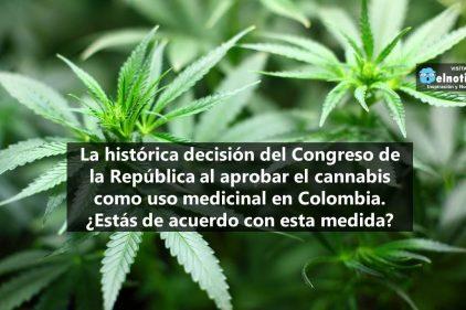 Congreso de la República aprueba el cannabis como uso medicinal en Colombia
